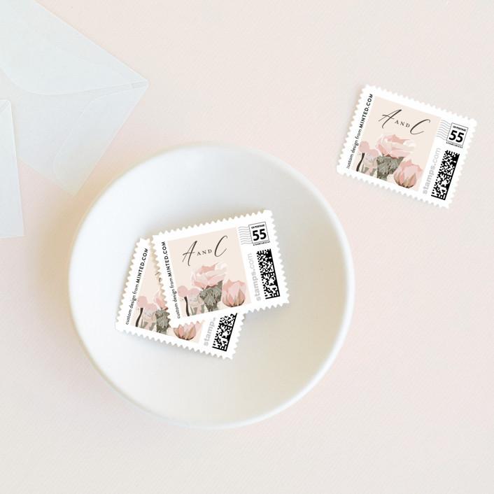 """""""Sahara"""" - Wedding Stamps in Carnation by Susan Moyal."""