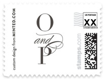 Calling Card Wedding Stamps