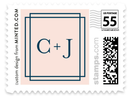 Chic Gala Wedding Stamps