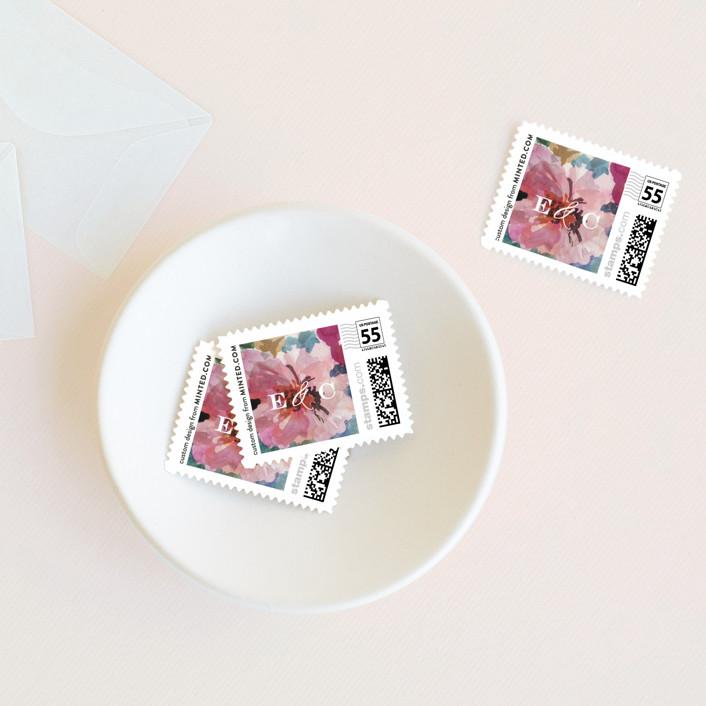 """Gilded Drape"" - Wedding Stamps in Fruitcake by Grace Kreinbrink."