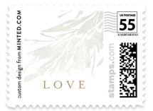 This is a brown wedding stamp by Kristie Kern called Fields with standard printing on adhesive postage paper in stamp.