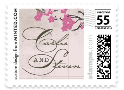Cherry Blossom Wedding Stamps