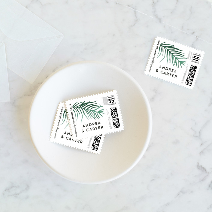 """""""Destination"""" - Wedding Stamps in Palm by Pink House Press."""