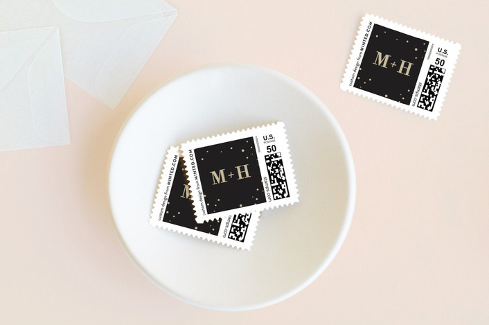"""Glitz"" - Wedding Stamps in Noir by Lori Wemple."