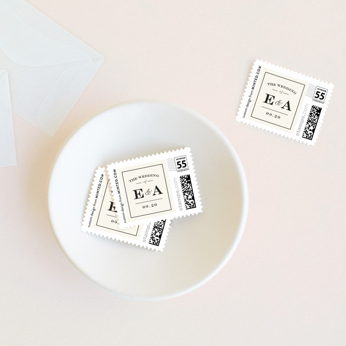 """""""Cambridge"""" - Wedding Stamps in Ivory by Little Words Design."""