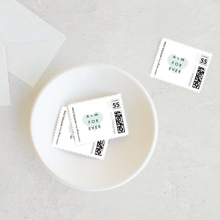 """""""About To Go Down"""" - Wedding Stamps in Mint by Stephanie Given."""
