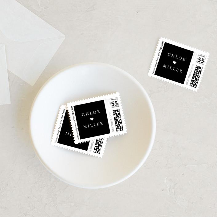 """Triptych"" - Wedding Stamps in Linen by Erin Deegan."