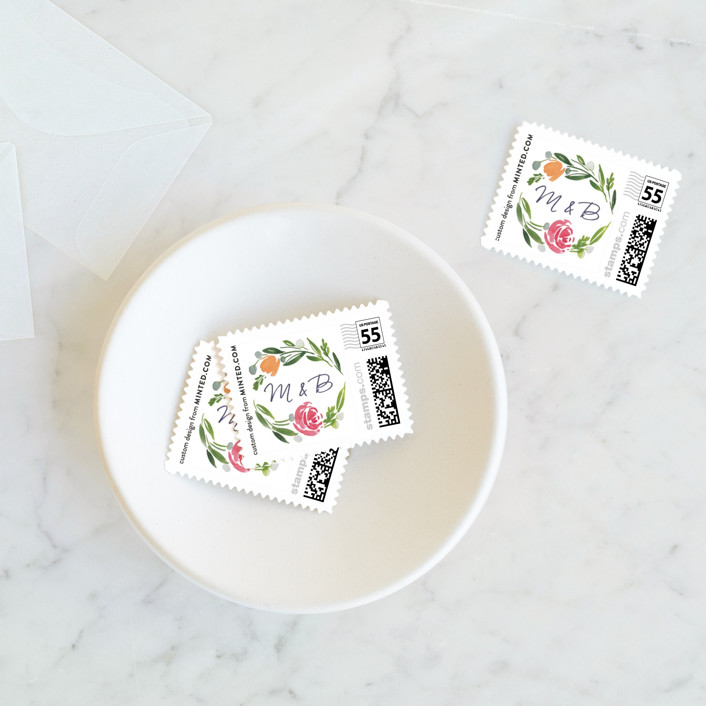 """""""Eliza"""" - Wedding Stamps in Spring by Yao Cheng Design."""