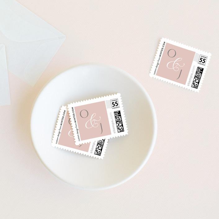 """""""Gramercy"""" - Wedding Stamps in Blush by Kristie Kern."""