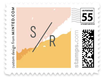 Brush Wedding Stamps
