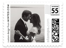 This is a black wedding stamp by Cass Loh called Cacti with standard printing on adhesive postage paper in stamp.