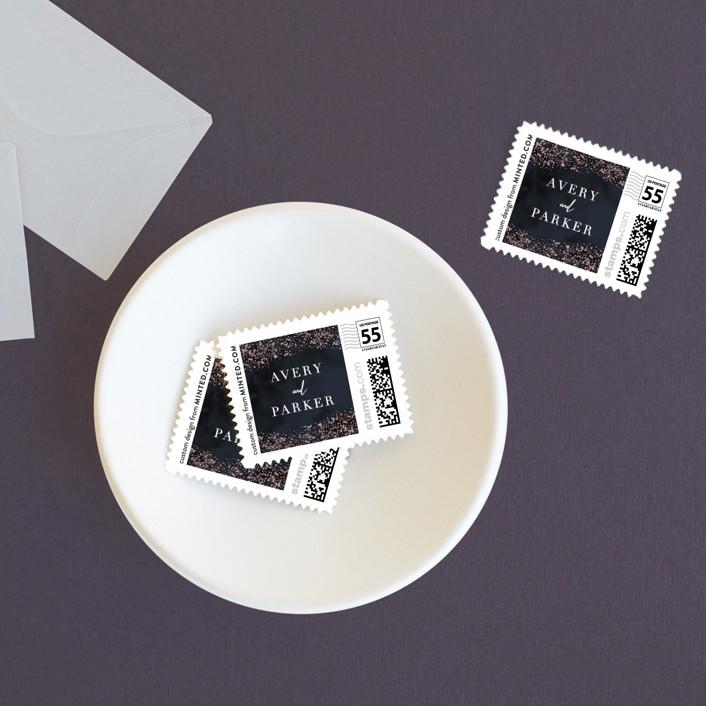 """""""glistening stardust"""" - Wedding Stamps in Midnight by Angela Marzuki."""