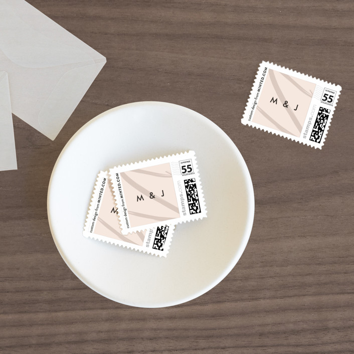 """""""Off the Page"""" - Wedding Stamps in Petal by Amy Payne."""