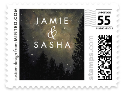 Starry, Starry Night Wedding Stamps