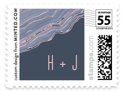 Modern Agate Wedding Stamps