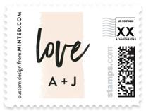brushed lettering Wedding Stamps