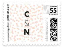 This is a pink wedding stamp by esg creative called Textured Dots with standard printing on adhesive postage paper in stamp.