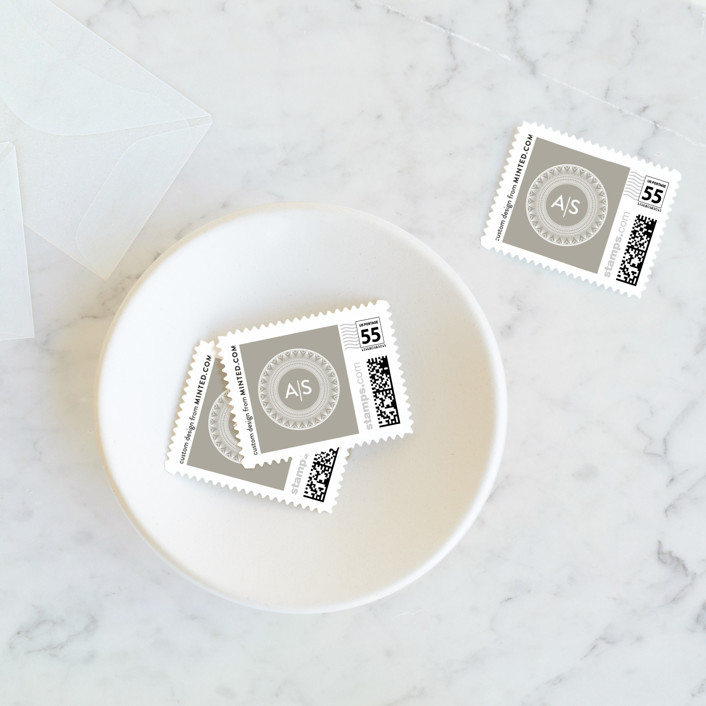 """mandala"" - Wedding Stamps in Porcelain by Char-Lynn Griffiths."