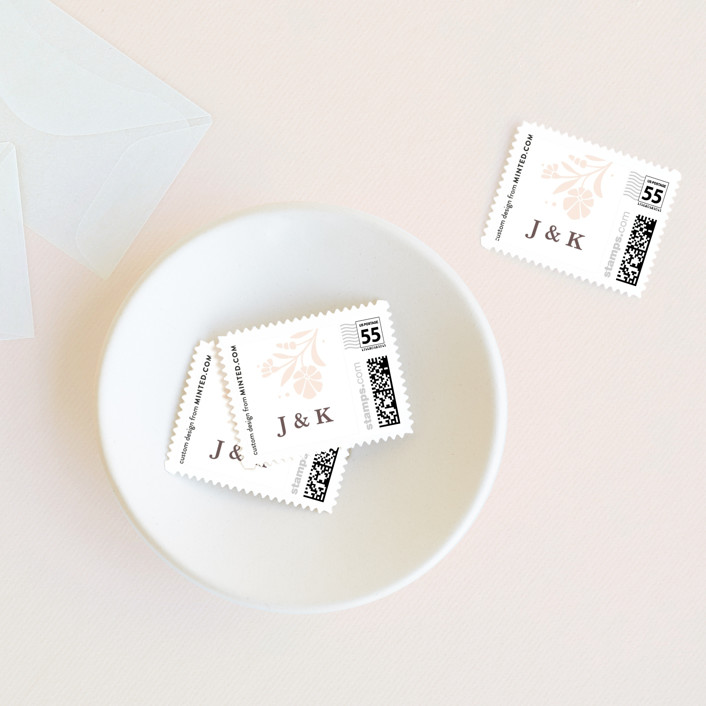 """Jasmine"" - Wedding Stamps in Shimmer by Kristen Smith."