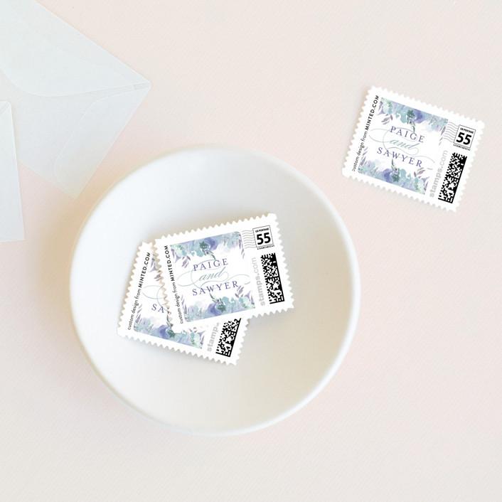 """""""Big Blooms"""" - Wedding Stamps in Dew by Grace Kreinbrink."""