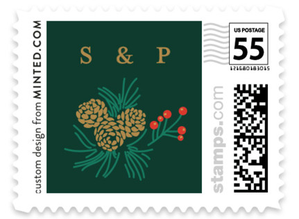 Holiday Wedding Wedding Stamps