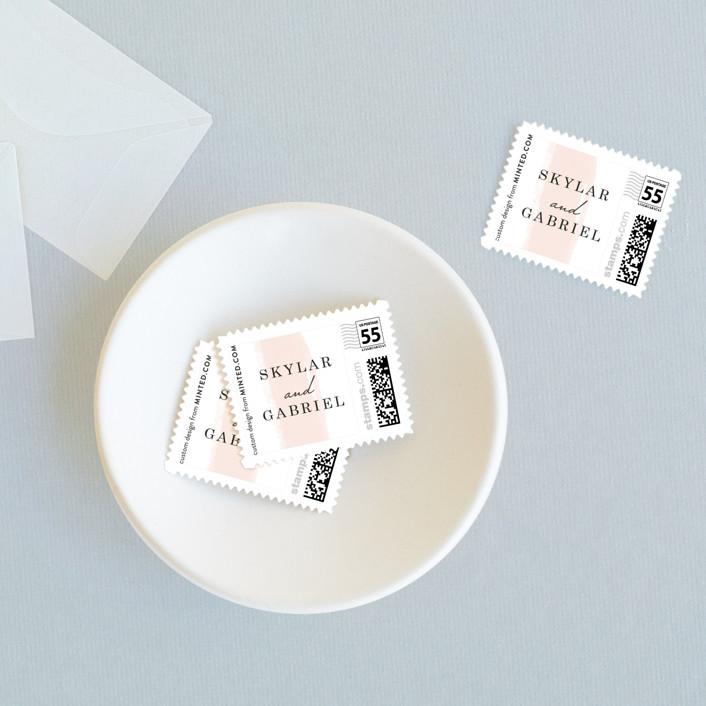 """Single Swath"" - Wedding Stamps in Blush by Angela Marzuki."