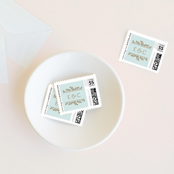 """""""Elegant Lines"""" - Vintage Wedding Stamps in Sky by Chris Griffith."""