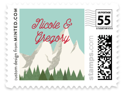 Travel With Us Wedding Stamps