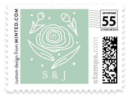 Save Our Date Florals Wedding Stamps