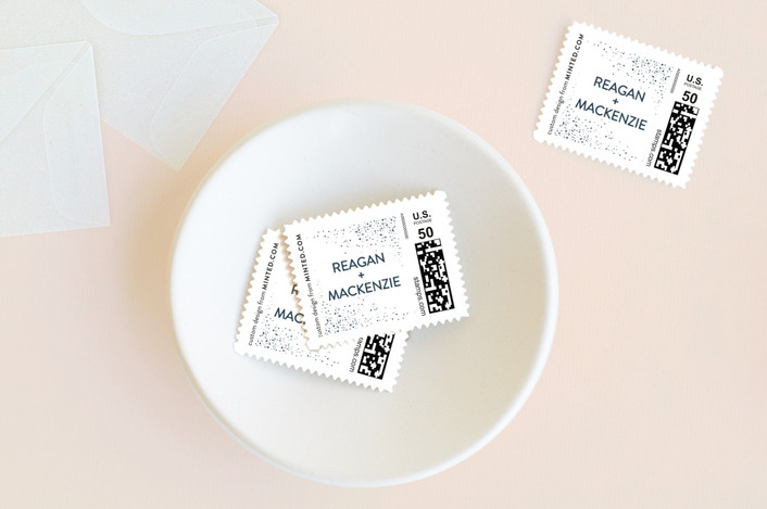 """""""Touch of Sparkle"""" - Wedding Stamps in Navy by Pink House Press."""
