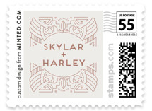 Wanderlust Wedding Stamps
