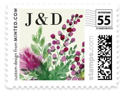 Wedding Watercolors Wedding Stamps