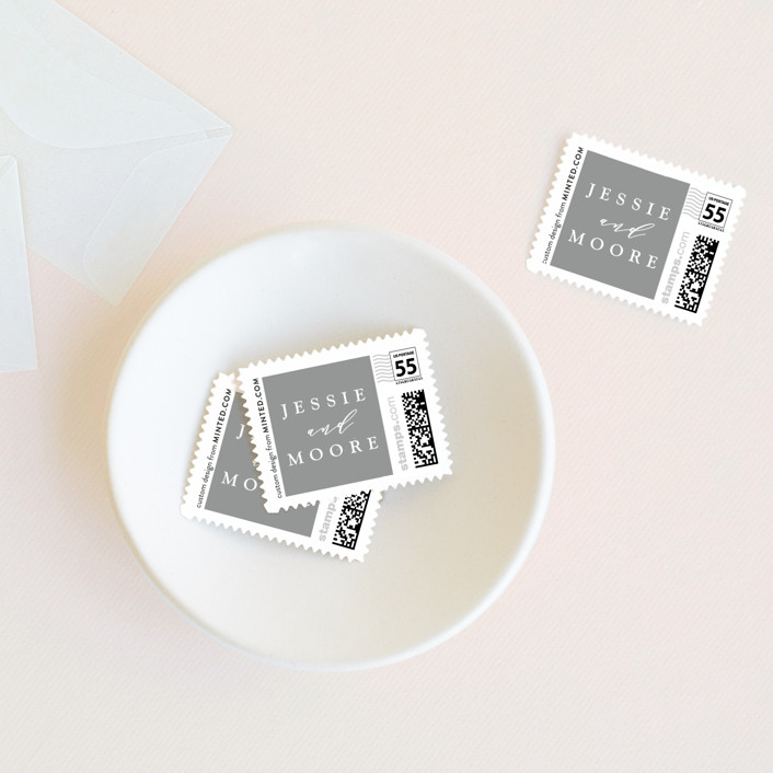 """""""New Style"""" - Formal Wedding Stamps in Cream by Owl and Toad."""