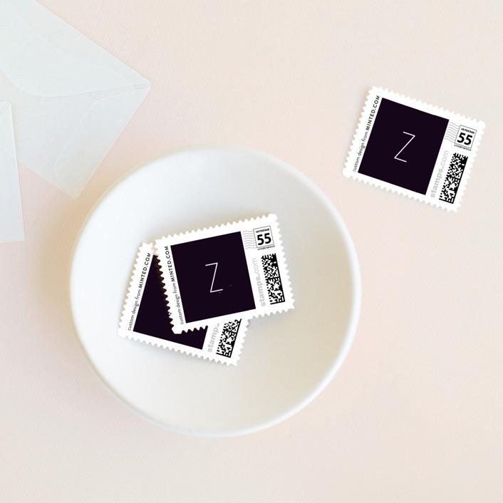 """Gemstones"" - Wedding Stamps in Ebony by Lori Wemple."