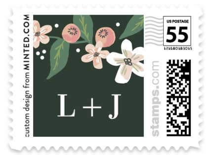 Climbing Rose Wedding Stamps