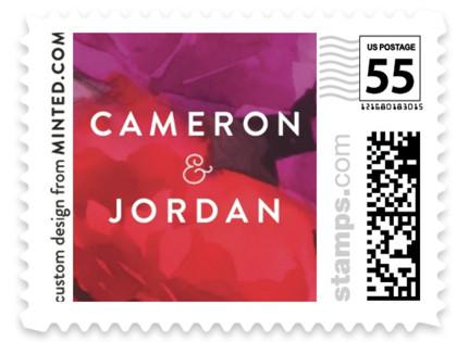 Centifolia Rose Wedding Stamps