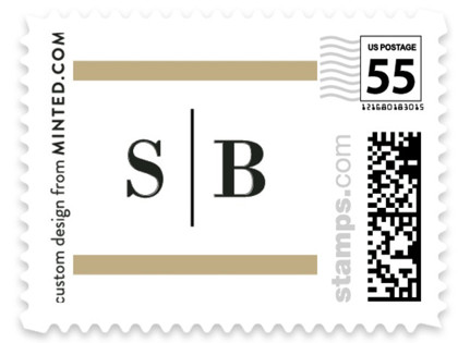 Classic Monogram Wedding Stamps