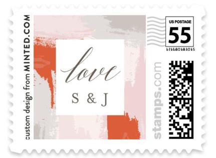 The Artist's Wedding Wedding Stamps