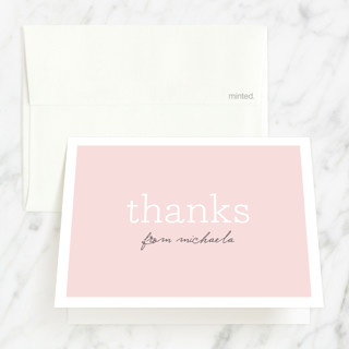 Sweet Chic Milestone Sweet Sixteen Party Thank You Cards