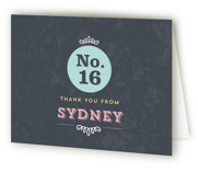 No. 16 Sweet Sixteen Party Thank You Cards