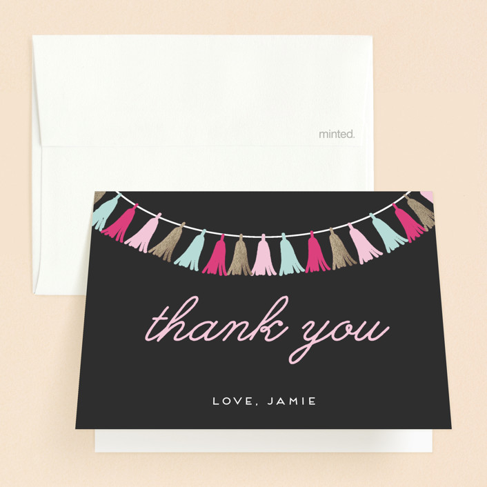 """""""The Sweetest Celebration"""" - Sweet Sixteen Party Thank You Cards in Dusk by Saltwater Designs."""