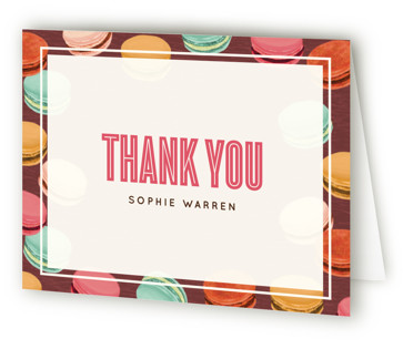 Sweet Macaron Birthday Sweet Sixteen Party Thank You Cards