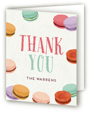 Sweet Macarons Sweet Sixteen Party Thank You Cards
