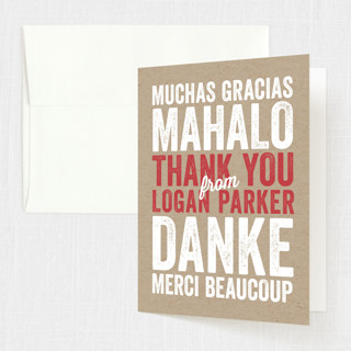 Kraft Birthday Sweet Sixteen Party Thank You Cards
