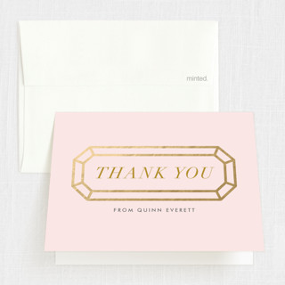 Sixteen Karats Sweet Sixteen Party Thank You Cards