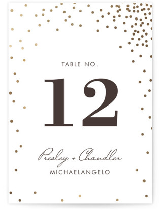 Thrilling Foil-pressed Table Numbers