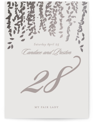 Cascade Foil-pressed Table Numbers
