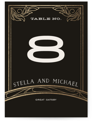 Antique Lines Foil-pressed Table Numbers