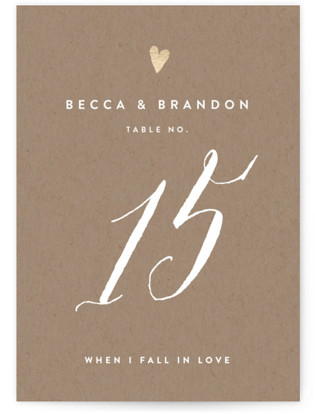 Charming Love Foil-pressed Table Numbers
