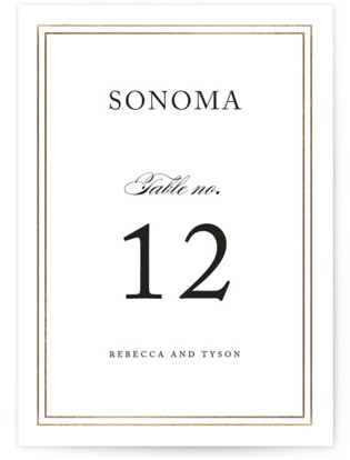 Eloquence Foil-pressed Table Numbers